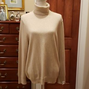 Gold Shimmer Cashmere Sweater